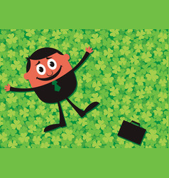 lucky businessman cartoon vector image