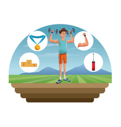people fitness sport healthcare image vector image vector image