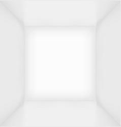 White simple empty room interior vector image vector image