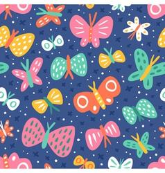 Cartoon butterflies pattern vector image vector image