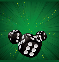 casino dice green vector image vector image