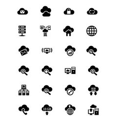 Cloud Computing Icons 2 vector image