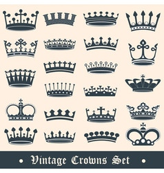 Crowns vector image vector image