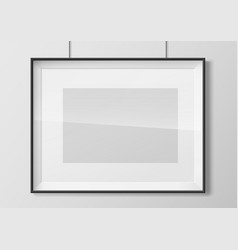 horizontal photo frame with glass vector image