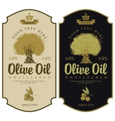 Labels for olive oils vector