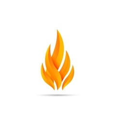 Modern fire icon vector image vector image