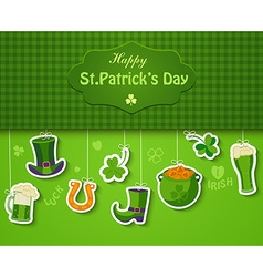 Poster banner or background for Happy St Patricks vector image vector image