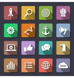 Search engine optimization icon set vector image