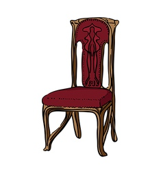 1900 style decorated chair vector image