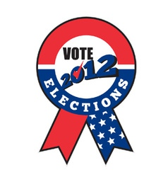 2012 american election ribbon vector