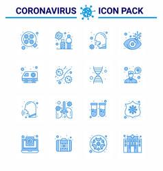 25 coronavirus emergency iconset blue design vector image