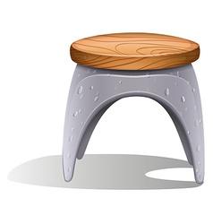 A plastic chair vector