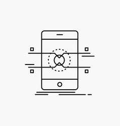 api interface mobile phone smartphone line icon vector image