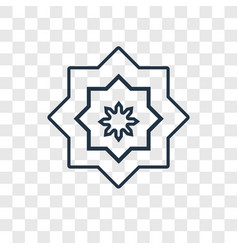 arabic art concept linear icon isolated on vector image