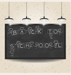 back to school concept hand drawing cartoon vector image