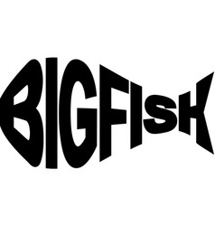 big fish vector image