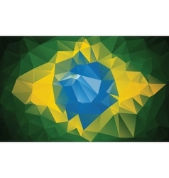 Brazilian flag made from polygons vector