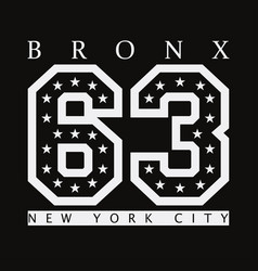 bronx new york vector image