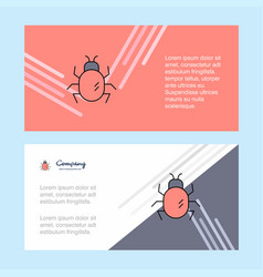 Bug abstract corporate business banner template vector