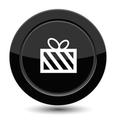 Button with gift vector image