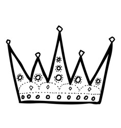 Cartoon image of crown icon crown symbol vector
