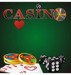 casino green vector image