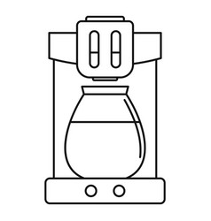 coffee machine icon outline style vector image