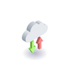 computer cloud icon symbol vector image