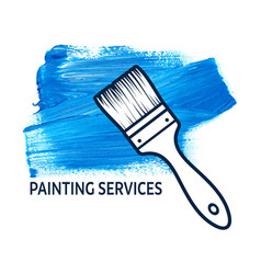 concept for house painting services vector image