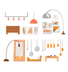 cozy home interior minimalist accessories and vector image