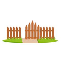 decorative wooden fences exterior design gates vector image
