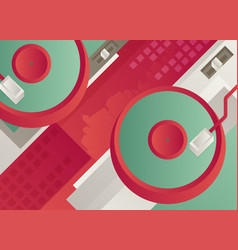 Designed modern dj music banner vector