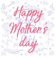 doodle mother day style vector image