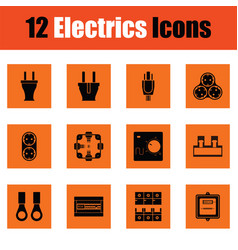 electrics icon set vector image