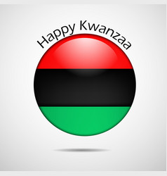 Elements of kwanzaa background vector