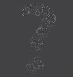 Emboss question mark symbol vector