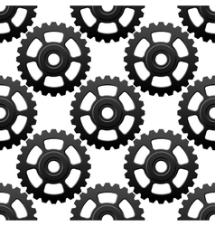 Gear wheels or cogwheels seamless pattern vector image