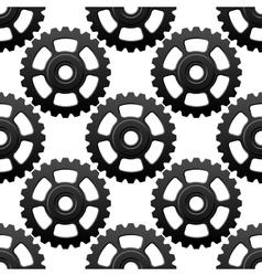 Gear wheels or cogwheels seamless pattern vector