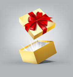 Gift box in motion vector