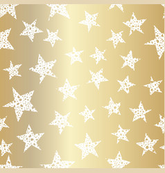 Gold stars seamless pattern festive design with vector