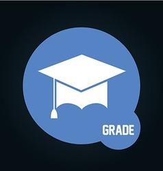 grade icon vector image