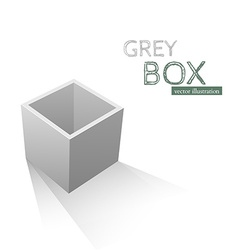 Grey Box isolated on white background vector image