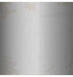 Grunge brushed metallic background vector image