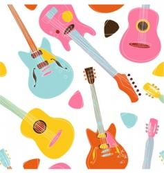 guitar pattern vector image vector image