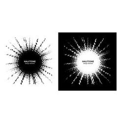 halftone star frame set boom shape explosion vector image