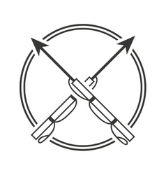 harpoon fishing equipment icon vector image