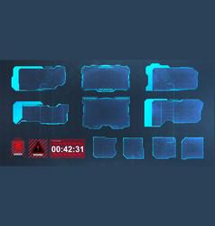 head up display interface screens vector image