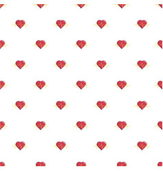 Heart beat pattern seamless vector