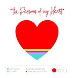 heart infographic colorful chart vector image