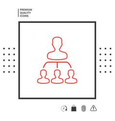 hierarchy - line icon vector image